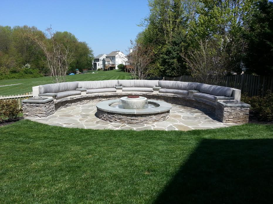 Water And Fire Features For Backyards : 360 Fire and Water Feature