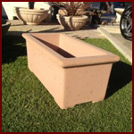 Concrete Fire Bowls Rectangle