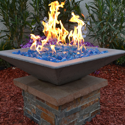 Concrete Fire Bowls Square
