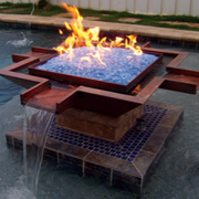 Copper Fire Bowls Pool