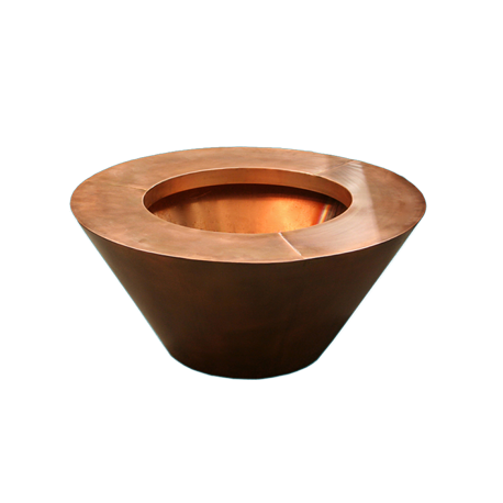 Round Copper Fire Bowls