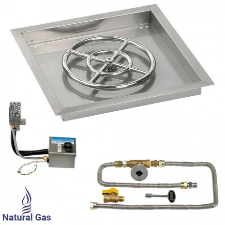 """18"""" Drop in Burner Pan. Square. Automated"""