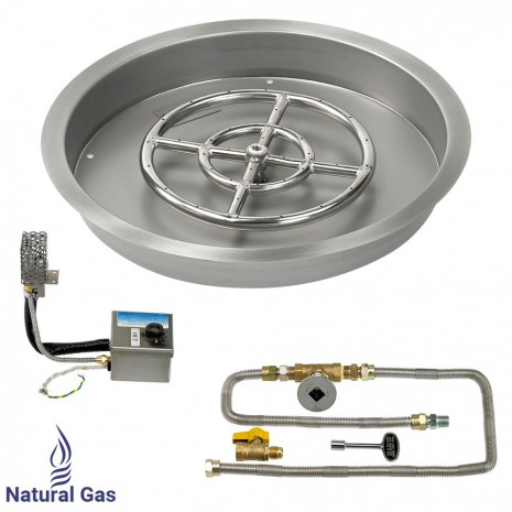 """25"""" Drop in Burner Pan. Round. Automated"""