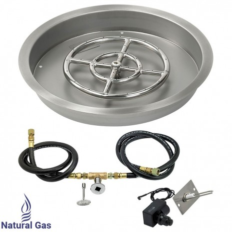 "19"" Drop in Burner Pan. Round. Spark Ignition"