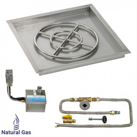 """30"""" Drop in Burner Pan. Square. Automated"""