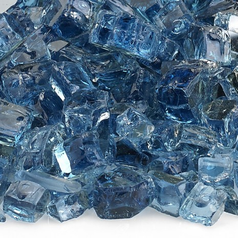 Fire Pit Glass Reflective Blue Pacific 1/2""
