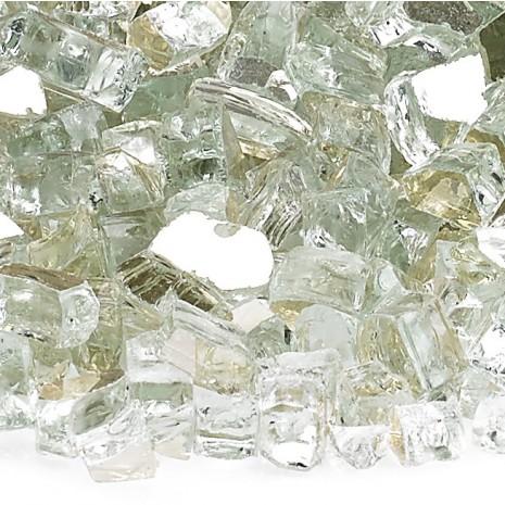 Fire Glass Reflective Platinum 1/4''