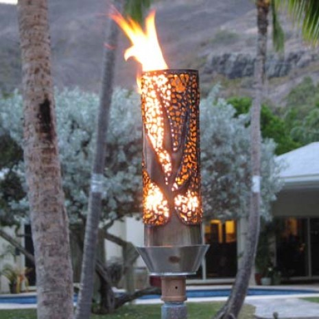 Automated Remote Controlled Bird Of Paradise Tiki Torch.