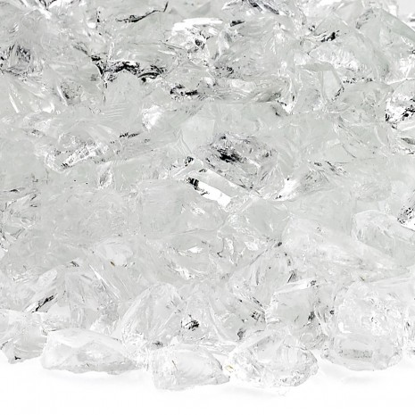 Fire Pit Glass Ice Clear 1/2""