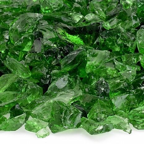 """Fire Pit Glass Light Green 1/2"""""""