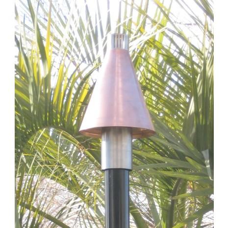 Automated Remote Controlled Copper Cone Tiki Torch