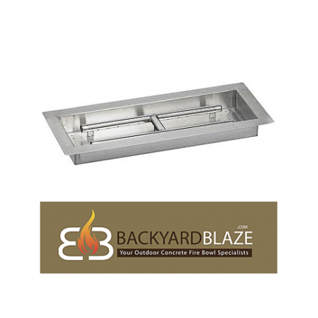 24'' X 8'' H Burner Pan with Spark Ignition
