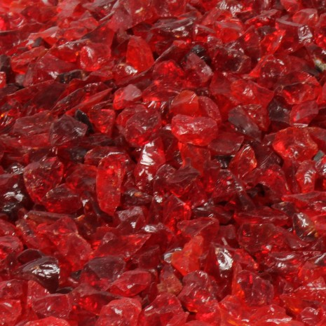 Fire Pit Glass Red 1/2""