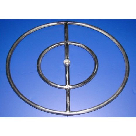 Round Stainless Steel Fire Ring 12''