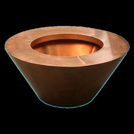 "Round Copper 30"" x 8"" Fire Pot"