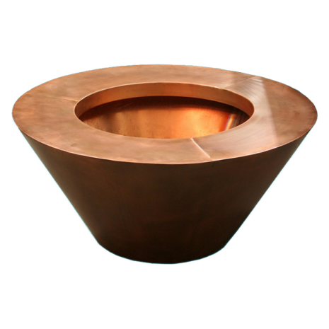 Copper Fire Bowl. Round. Automated