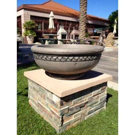 "Concrete Fire Bowls Sonoma 18"" w/ Black Wash"