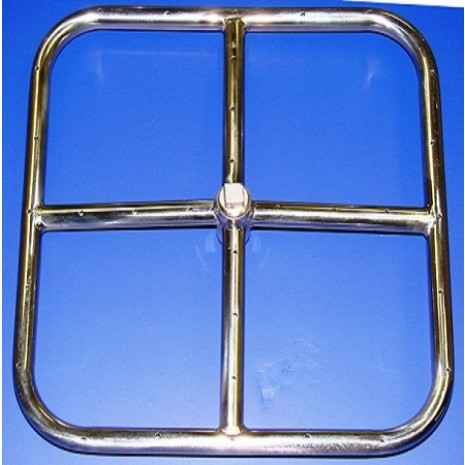 24'' Square Stainless Steel Fire Ring