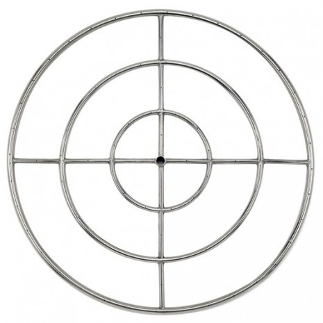 Round Stainless Steel Fire Ring 36 ''LP