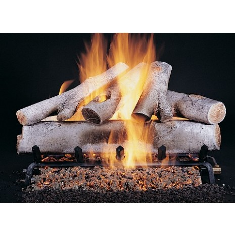 White Birch  Fire Log Set 24''
