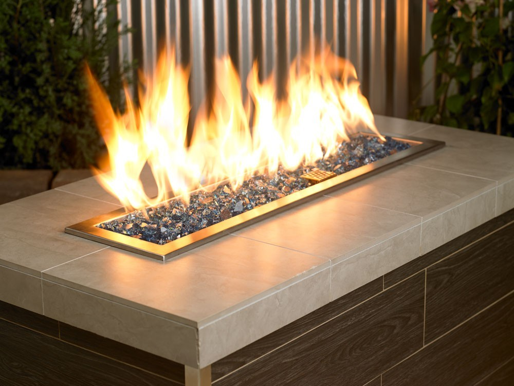 """Fire Pit Glass Reflective Blue Pacific 1/2"""""""