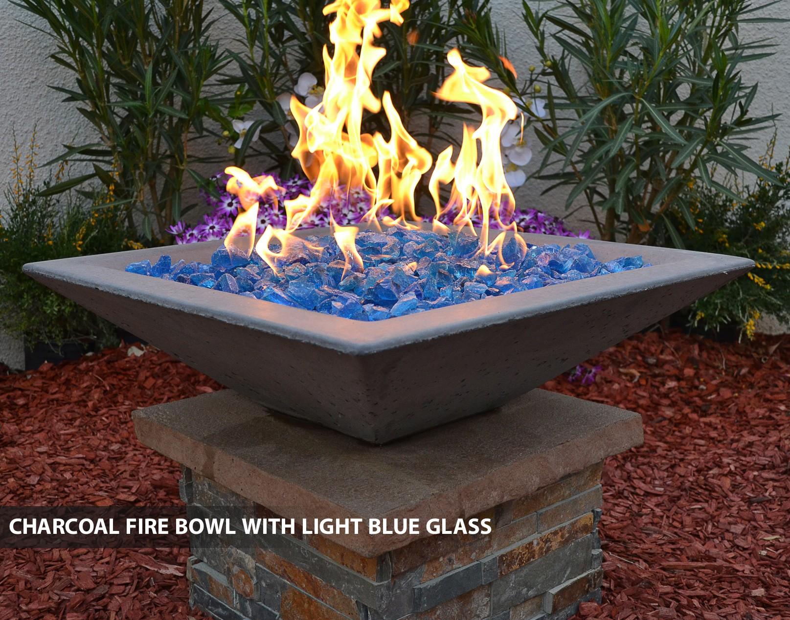 Concrete Fire Bowls Square With Scupper 36 Quot