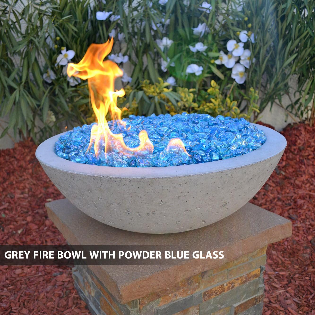 Concrete Fire Bowls Round With Scupper 33 Quot