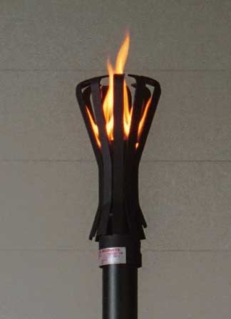 Fin Style Gas Tiki Torch