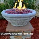 """Concrete Fire Bowls Tuscany 36"""""""