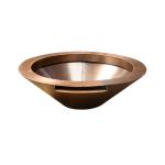 Copper Fire Bowl With Spillway