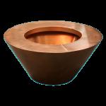 "Round Copper 24"" x 8"" Fire Pot"