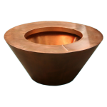 "Round Copper 30"" x 8"" Fire Pot"