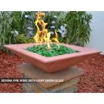 """Concrete Fire Bowls Square 24"""""""
