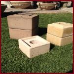 Concrete Fire Bowls Square Pedestal 18''