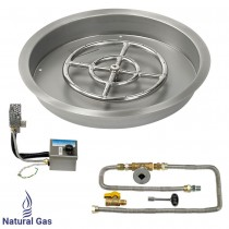 "25"" Drop in Burner Pan. Round. Automated"