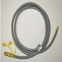 Gas Hose 12' Gray Quick Disconnect