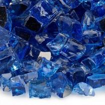 """Fire Pit Glass Reflective Cobalt Blue 1/2"""""""