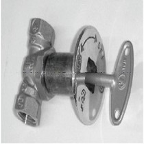 Manual Ball Valve Chrome With Key 1/2