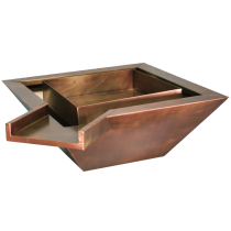Copper Fire and Water Bowl. Square. Automated