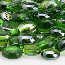 Fire Beads Emerald Green Luster