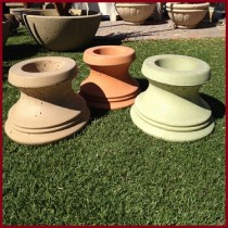 Concrete Fire Bowls Pedestal 21'' Round