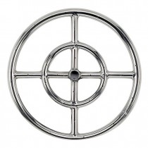 Round Stainless Steel Fire Ring 12'' NG
