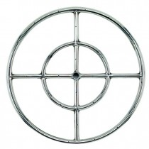 Round Stainless Steel Fire Ring 18'' NG