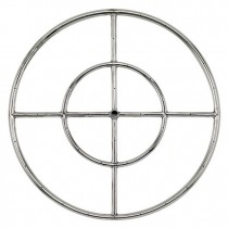 Round Stainless Steel Fire Ring 24'' NG