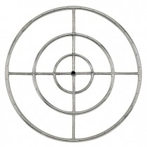 Round Stainless Steel Fire Ring 30'' LP
