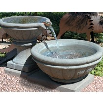 """Concrete Fire Bowl Tuscany with Scupper 30"""""""