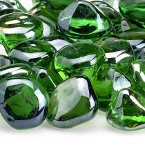 Shamrock Green Luster Zircon Fireglass