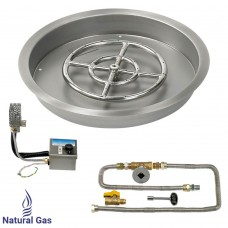 "19"" Drop in Burner Pan. Round. Automated"