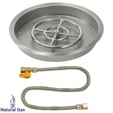 "19"" Drop in Burner Pan. Round. Match Lite"