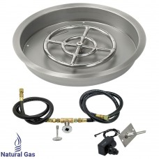 "25"" Drop in Burner Pan. Round. Spark Ignition"